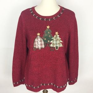 CHRISTOPHER & BANKS Christmas Tree Sweater